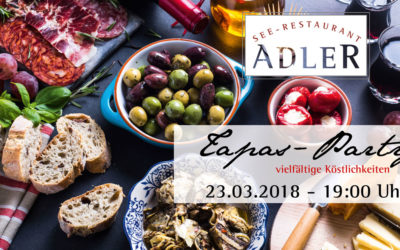 Tapas-Party im See-Restaurant Adler